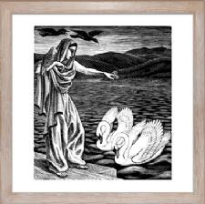 The Prrincess and the Swan black and white - Ready Framed